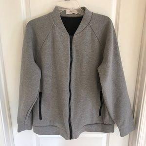 Heather Gray Long Sleeve Zip Up Sweatshirt